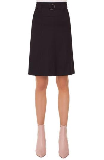 Akris punto Stretch Cotton A-Line Skirt