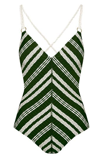Robin Piccone Livvy One-Piece Swimsuit, Green