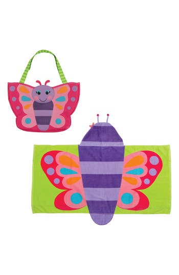 Girls Stephen Joseph Beach Tote Hooded Towel  Toys
