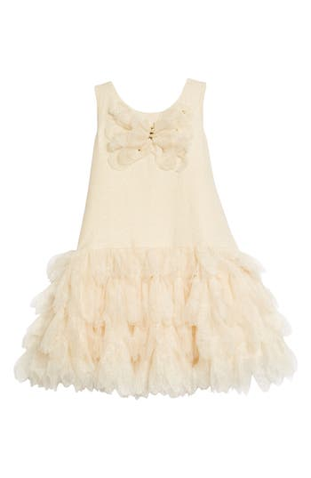 Toddler Girls Kate Mack Sleeveless Tulle Dress Size 3T  Metallic