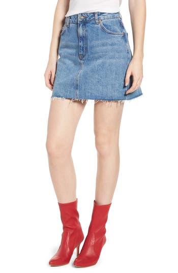 Topshop Denim Miniskirt, US (fits like 0) - Blue