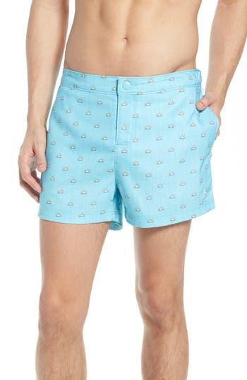 Original Penguin Sunshine Swim Trunks, Blue