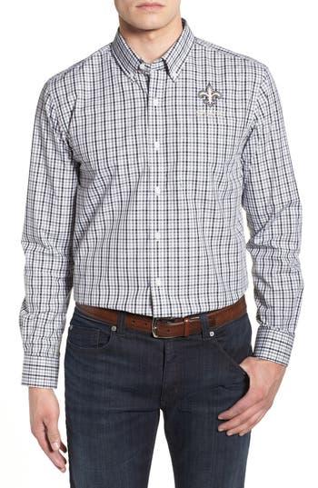 Men's Cutter & Buck New Orleans Saints - Gilman Regular Fit Plaid Sport Shirt