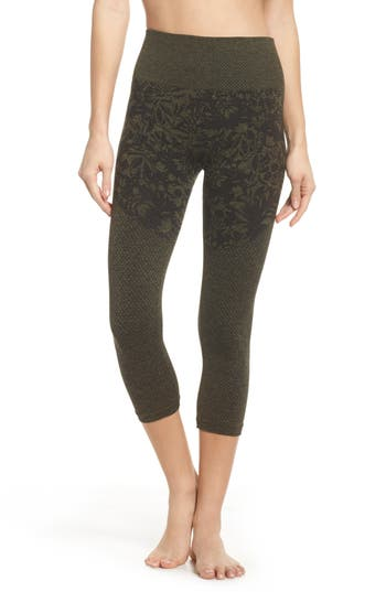 Climawear Pathway Capri Leggings, Green