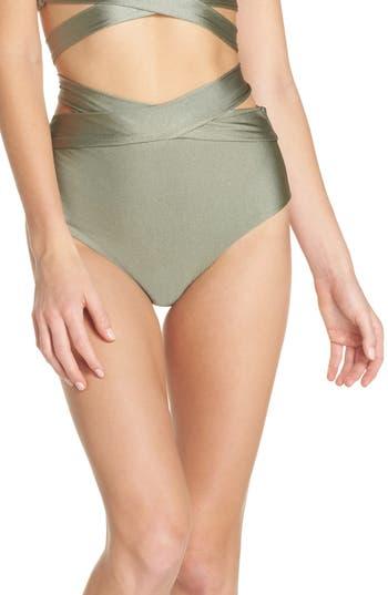Becca Ballerina Wrap Bikini Bottoms, Green