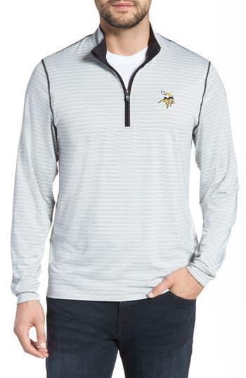 Cutter & Buck Meridian - Minnesota Vikings Regular Fit Half Zip Pullover