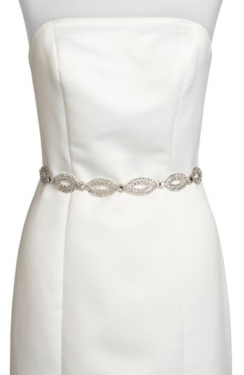 kate spade new york fish eye crystal bridal belt