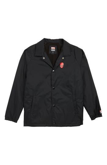Boys Vans X Marvel Avengers SpiderMan TM Torrey Jacket Size L  1416  Black