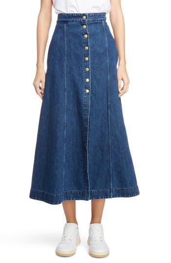 Acne Studios Snap Front Denim Skirt