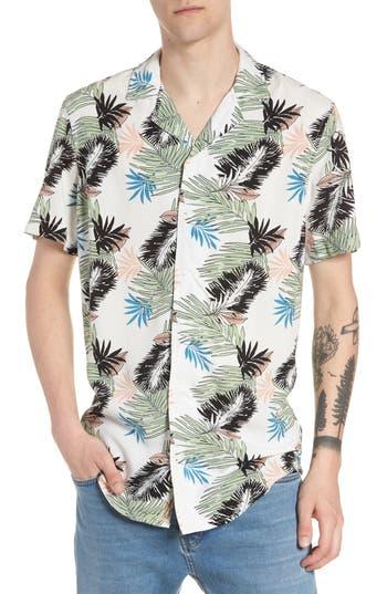Men's The Rail Print Woven Shirt, Size Small - White