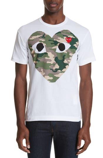 Comme des Garçons PLAY Camo Big Heart T-Shirt