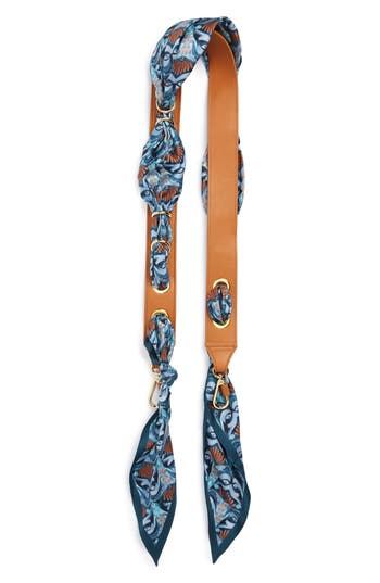 Chloé Silk Scarf & Leather Strap