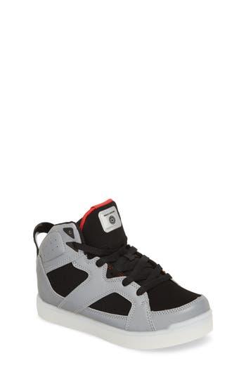 Boys Skechers Energy Lights Pro Show Stopper High Top Sneaker Size 3.5 M  Metallic