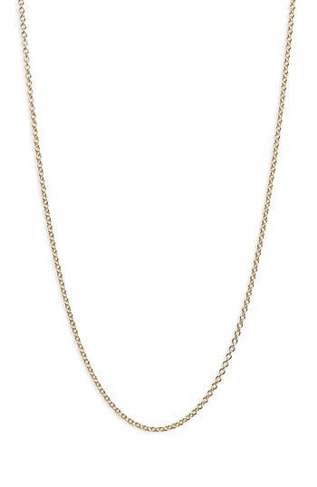 Bony Levy 14K Gold Rolo Chain Necklace