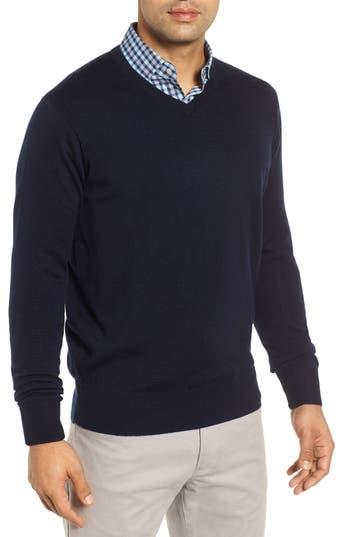 Peter Millar Wool & Silk V-Neck Sweater