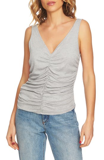 1.STATE RUCHED FRONT TANK TOP