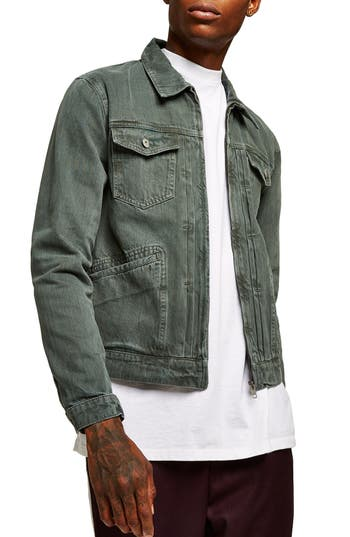 Topman Zip Denim Jacket