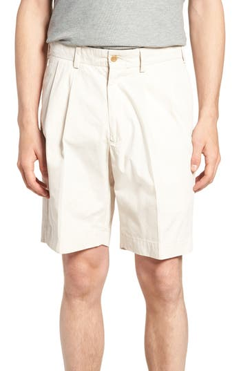 Bills Khakis Classic Fit Pleated Tropical Poplin Shorts