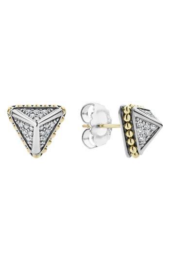 LAGOS KSL DIAMOND PYRAMID STUD EARRINGS