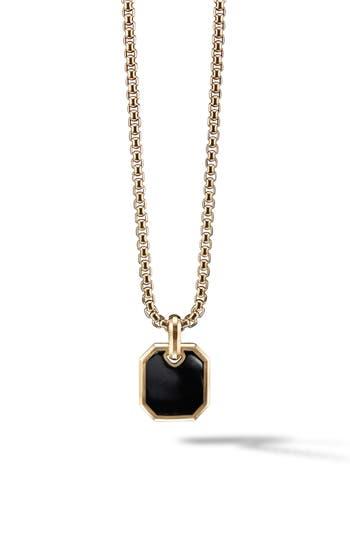 David Yurman Roman 18K Gold Amulet Enhancer with Black Onyx