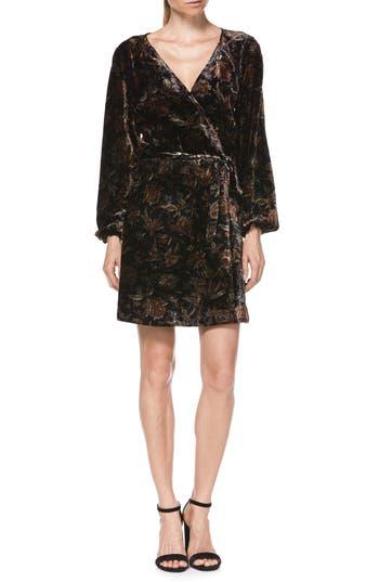 Women's Paige Estefani Velvet Minidress, Size X-Small - Black