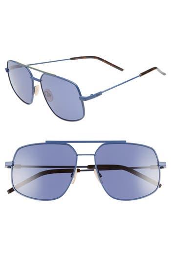 Fendi 58mm Polarized Navigator Sunglasses