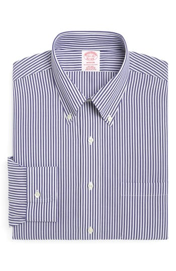 Men's Brooks Brothers Classic Fit Stripe Dress Shirt (3 For $207)