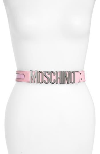 Moschino Logo Plate Inset Belt
