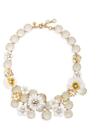 J.Crew Flower Statement Necklace