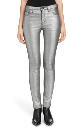Saint Laurent Metallic Skinny Jeans
