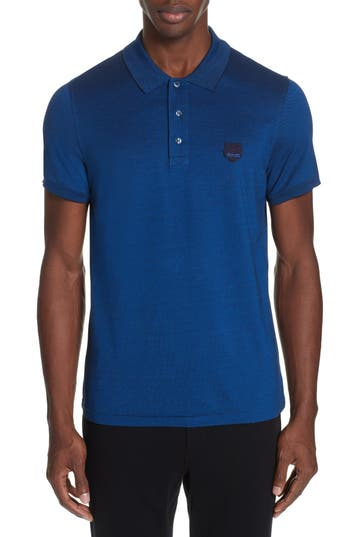 KENZO Fitted Tiger Crest Polo Shirt