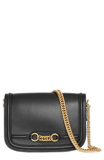 Burberry Link Flap Leather Crossbody Bag