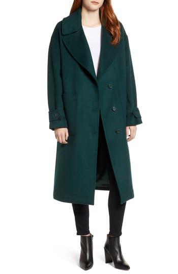 Halogen® Drop Shoulder Wool Blend Coat