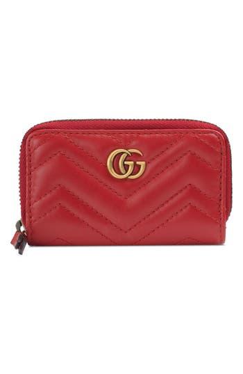Gucci Marmont 2.0 Matelassé Leather Key Case Pouch