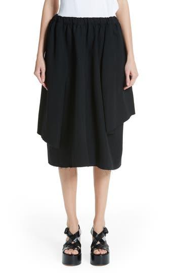 Comme des Garçons Drawstring Waist Wool Skirt