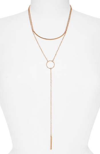 Panacea Bar Circle Layered Y-Necklace
