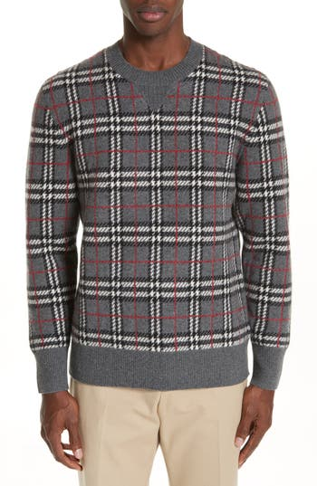 Burberry Banbury Check Cashmere Sweater