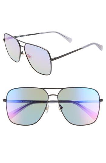 Rebecca Minkoff Stevie3 61mm Aviator Sunglasses