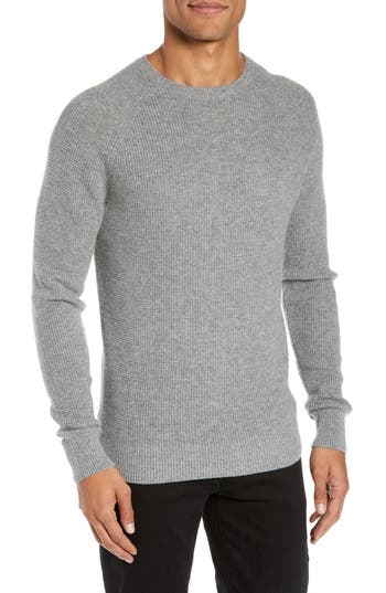 Nordstrom Men's Shop Cashmere Waffle Knit Pullover