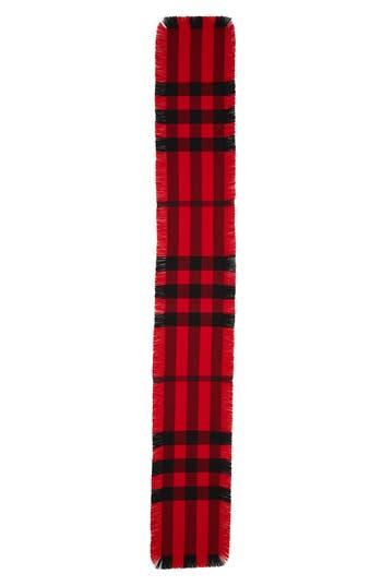Burberry Mega Fashion Fringe Wool Scarf