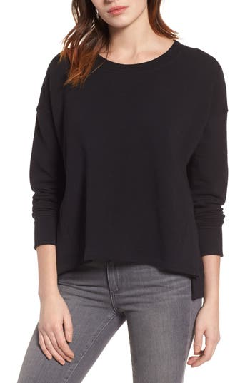 Caslon® Side Slit Relaxed Sweatshirt