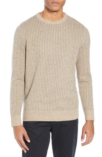 J.Crew Rugged Bird's Eye Merino Wool Blend Sweater