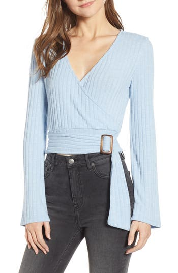 BP. Belted Wrap Top