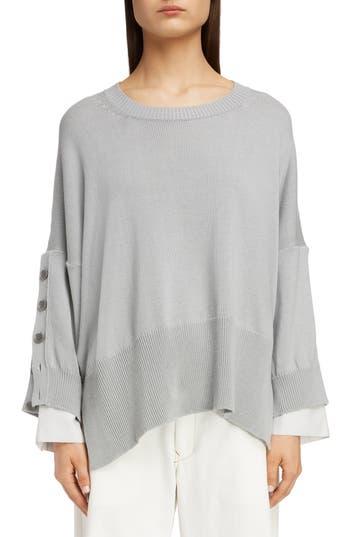 Y's by Yohji Yamamoto Button Sleeve Sweater