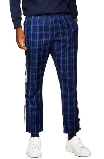 Topman Reflective Trim Skinny Drawstring Trousers