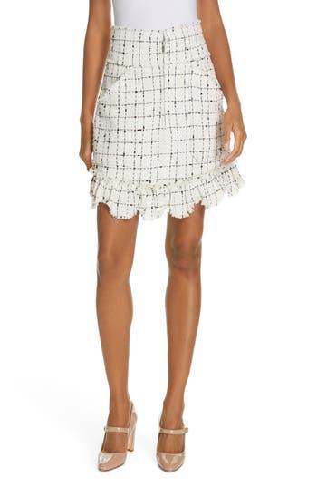 Rebecca Taylor Scallop Hem Tweed Skirt