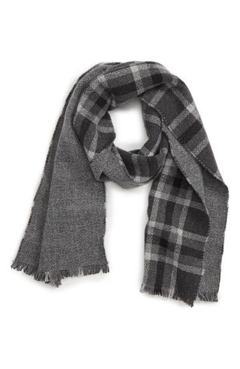 Andrew Stewart Track Plaid Double Face Cashmere Scarf
