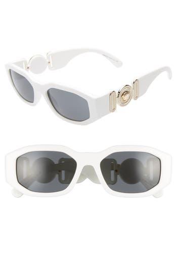 Versace Biggie 53mm Round Sunglasses