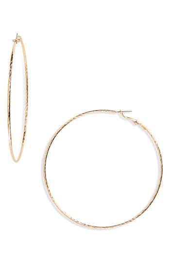 BP. Thin Textured Hoop Earrings