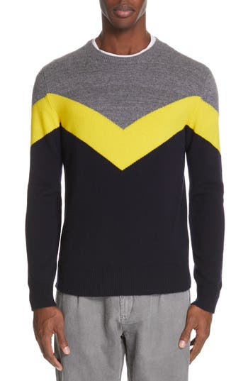 Eleventy Chevron Cashmere Sweater